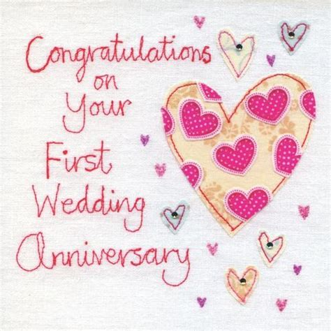 1st Year Wedding Anniversary Card by Anniversary Cards Collection Karenza Paperie