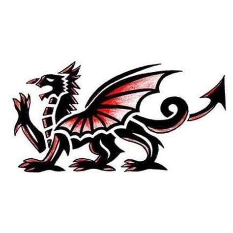 welsh dragon tattoo designs design tattoowoo