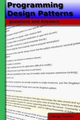 pattern questions with answers programming design patterns questions and answers