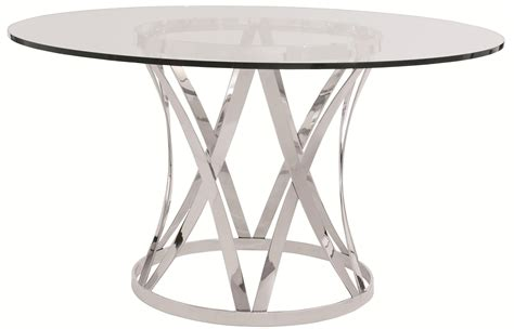 bernhardt zambrano round end table base glass top bernhardt interiors gustav round glass top dining table