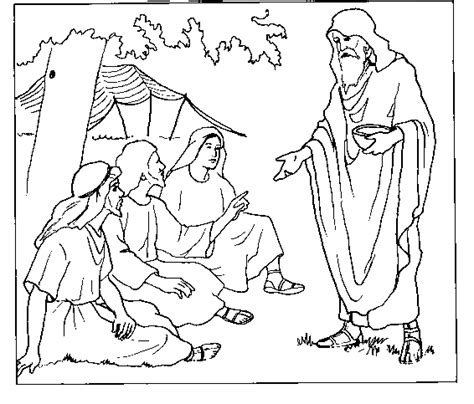 free coloring pages of sarah abraham and isaac