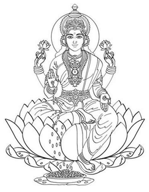 Lakshmi Coloring Pages lakshmi