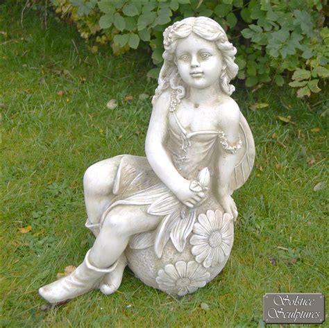 fairy garden statues petal fairy statue stone effect