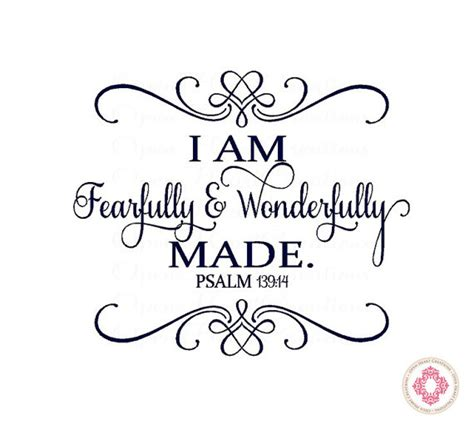 baby nursery wall decal i am fearfully and by