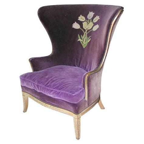 Purple Wingback Chair Design Ideas Purple Wing Chair Purple