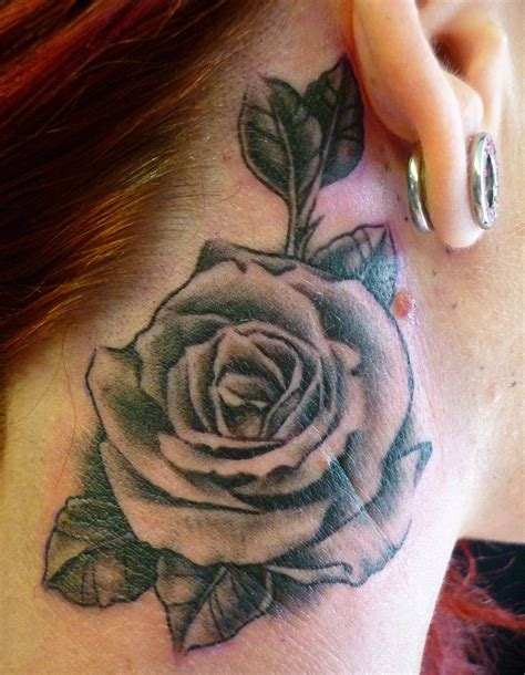 rose tattoo shading black and grey picture added 29 10 2012