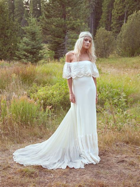 Hippie Wedding Dresses by Bohemian Wedding Dress Bridal Gown The