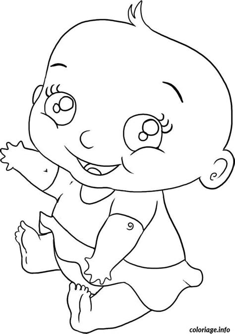 Coloriage Bebe Fille Dessin