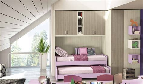 da letto con ponte cameretta a ponte con 2 letti e cabina armadio vari colori