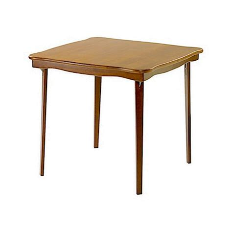 bed bath beyond folding table stakmore 32 inch scalloped edge folding card table bed