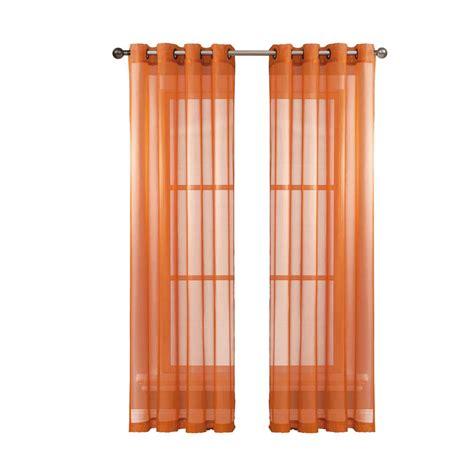 orange grommet curtain panels window elements diamond sheer voile orange grommet extra