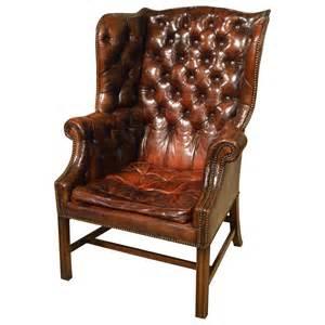Gentlemans Armchair George Iii Style Gentleman S Leather Wing Armchair At 1stdibs