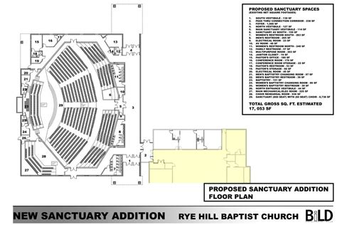 sanctuary floor plans bild architects rye hill baptist church new sanctuary