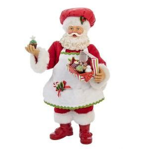 kurt s adler 10 in cupcake santa c7419 the home depot