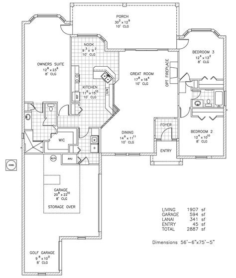 Duran Homes Floor Plans | windpark iii custom home floor plan palm coast fl