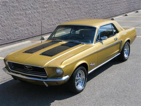 Ford Mustang Home Decor by Sunlit Gold 1968 Ford Mustang Hardtop Mustangattitude