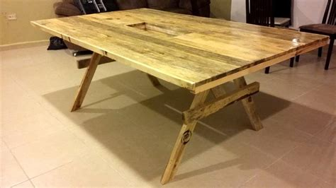 Dining Table Made From Pallets Diy Xl Size Pallet Dining Table