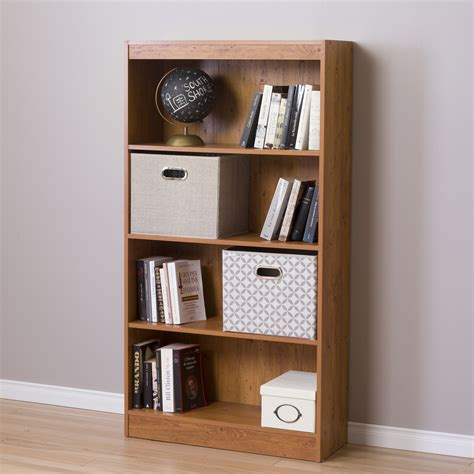south shore axess 4 shelf bookcase country pine home