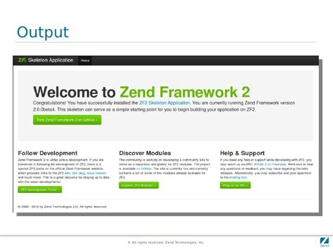 zend framework 2 layout quick start on zend framework 2