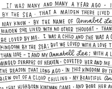 printable version of annabel lee items similar to printable graphic annabel lee edgar allen