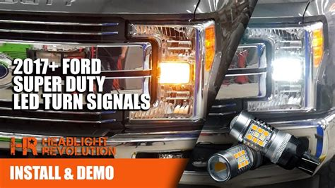 led front turn signal bulbs  ford   super duty amber  switchback youtube