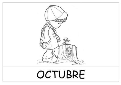 imagenes del mes de octubre para colorear dibujos meses del a 241 o blanco y negro pfd