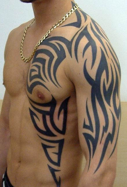tribal chest piece tattoos tribal chest designs