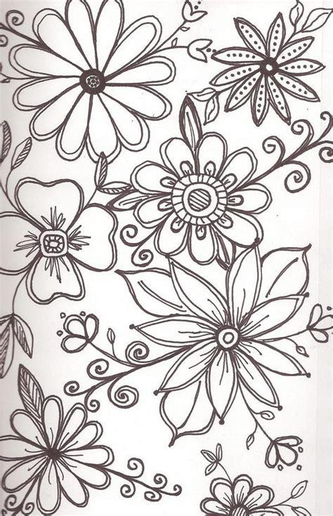 doodle flower floral doodles zentangle doodles