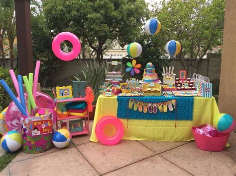 themed parties for summer swimming pool summer party summer party ideas party