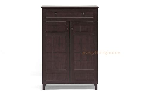 Brown Shoe Cabinet by Brown Modern Wood Shoe Storage Cabinet Shelves