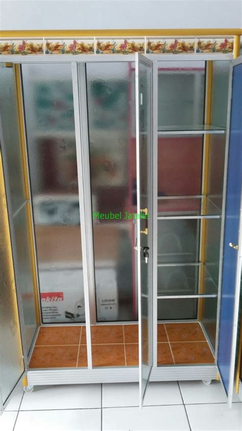 Lemari Piring Kaca 2 Pintu jual lemari pakaian 3 pintu kaca transparan cermin