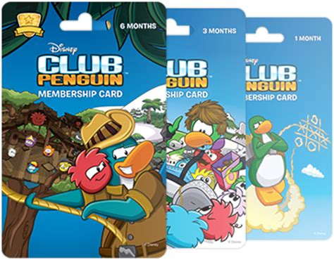 Club Penguin Gift Cards Target - membership cards club penguin wiki the free editable encyclopedia about club penguin