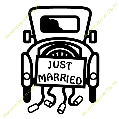 Just Married Auto Clipart by Just Married Car 12452