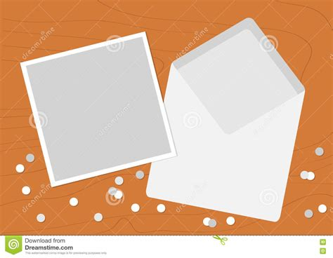 greeting card template for open white opened blank envelope letter with greeting card