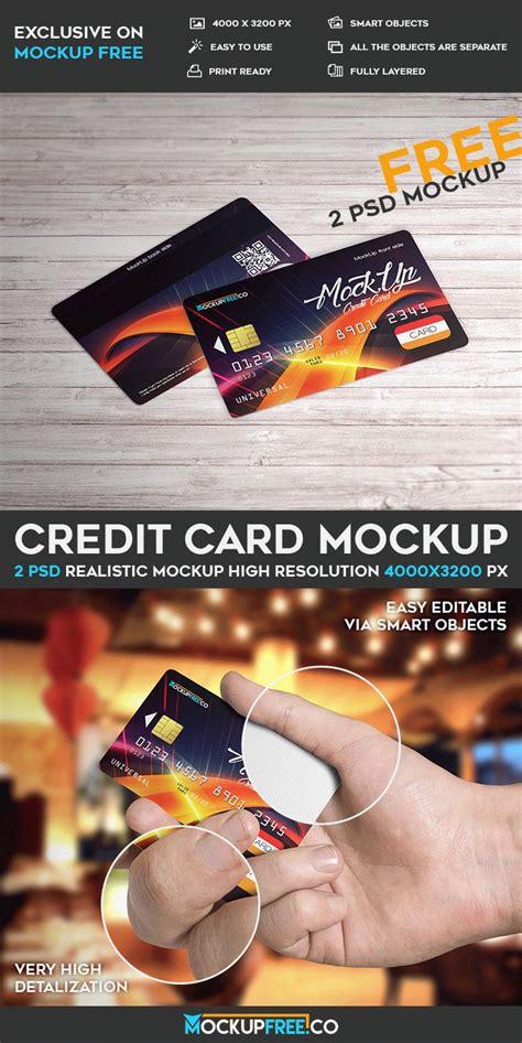 make credit card free credit card 2 free psd mockups free psd templates
