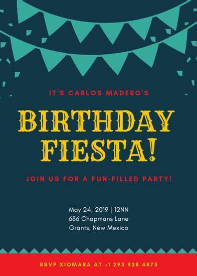 customize  fiesta invitation templates  canva