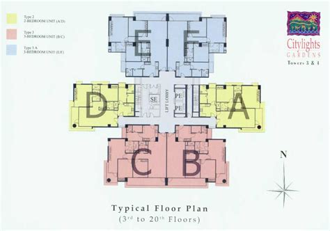 typical floor plan citylights gardens cebu condominium citylights gardens