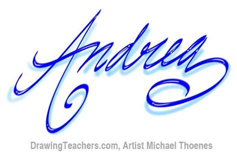 drawing graffiti letters andrea