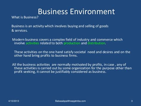 International Business Management Mba Notes by Business Environment Ppt International Business Management Mba