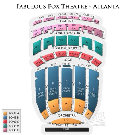 fabulous fox seating fabulous fox theatre atlanta tickets fabulous fox