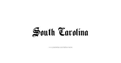 south carolina tattoos south carolina usa state name designs tattoos