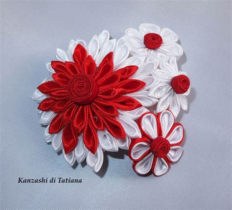 fiori per capelli fiori kanzashi per capelli 10 donna accessori di