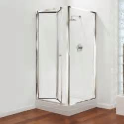 Coram Bifold Shower Door Coram Showers Bi Fold Shower Door Glass And Chrome Gb Shower Enclosures 900mm Ebay