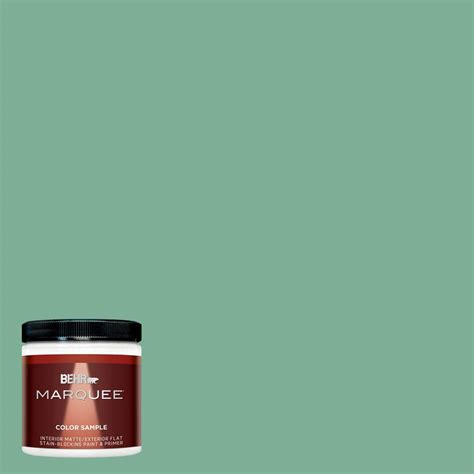 behr marquee 8 oz mq4 42 pistachio interior exterior paint sle mq30416 the home depot