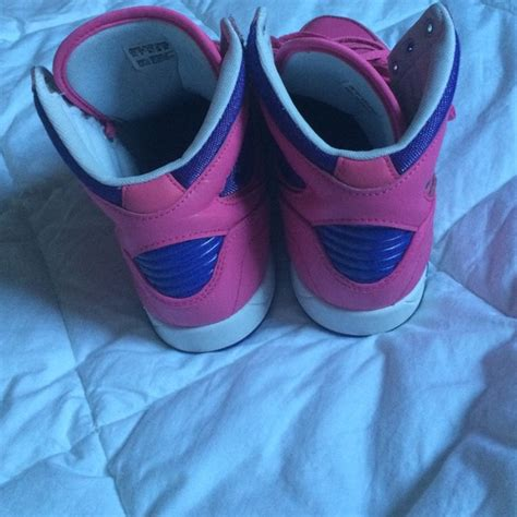 adidas pink and purple adidas high top tennis shoes from 240k suggested user s closet on poshmark