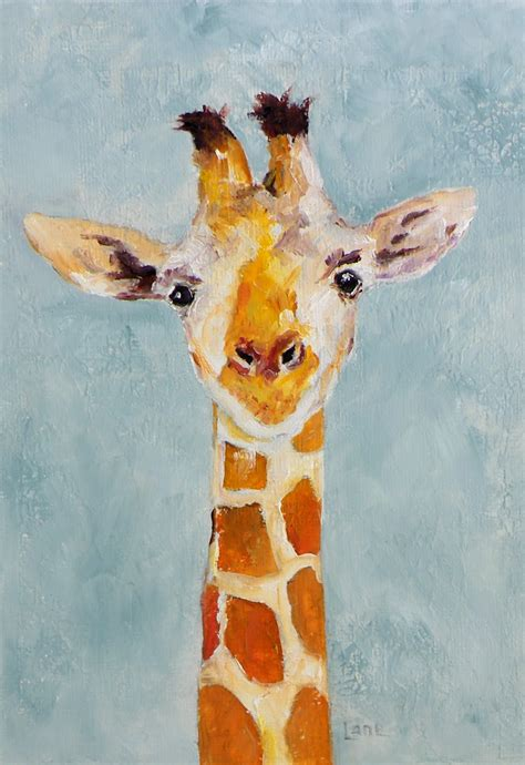 animal painting free for quot baby g quot a giraffe original on