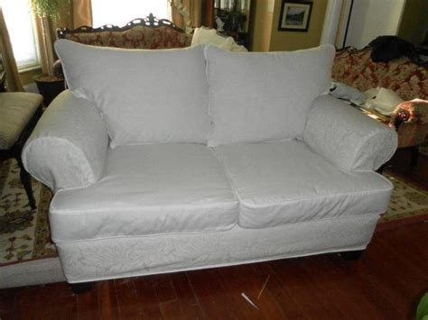 white loveseat slipcover white loveseat slipcover doherty house contemporary