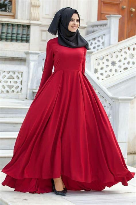 Omera Plain Flare Muslim Dress modest flare abaya designs for all styling style fashion ideas