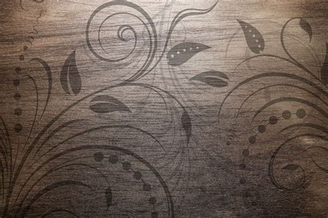design background textures vintage wood texture with swirl floral design photohdx