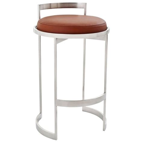 Powell Swivel Bar Stools by Obi Swivel Bar Stool With Leather Seat By Powell And